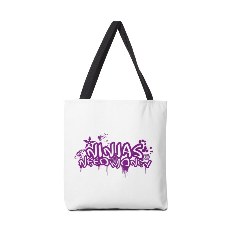URBAN NINJA PURPLE Accessories Tote Bag Bag by Ninjas Need Money's Artist Shop