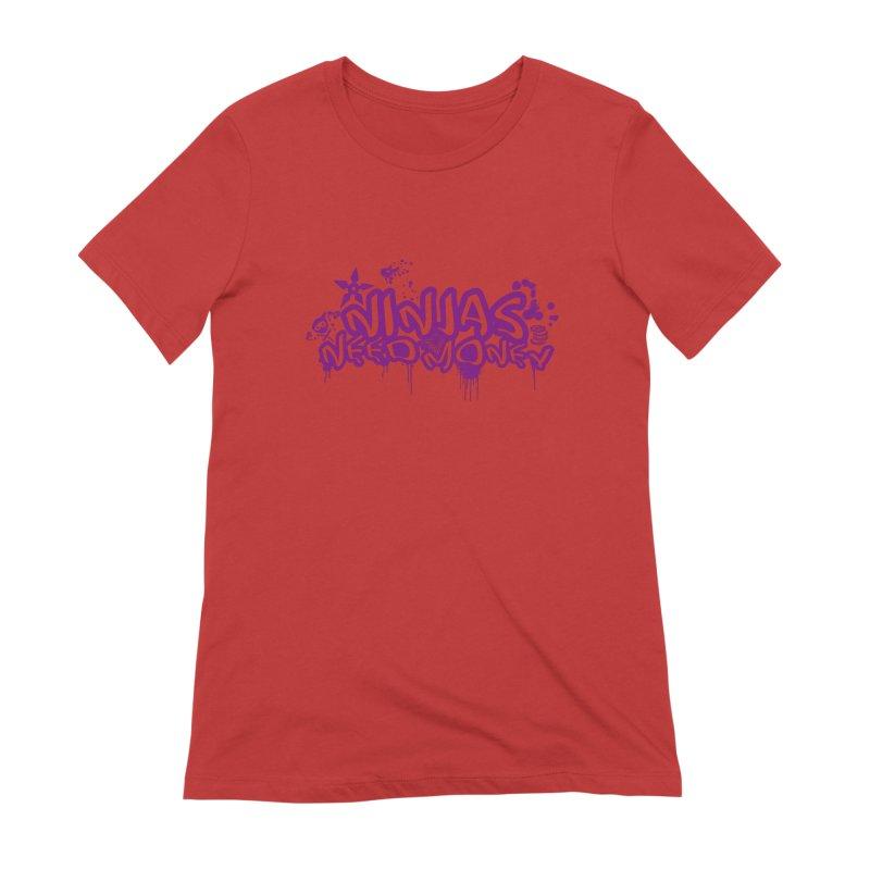 URBAN NINJA PURPLE Women's Extra Soft T-Shirt by Ninjas Need Money's Artist Shop