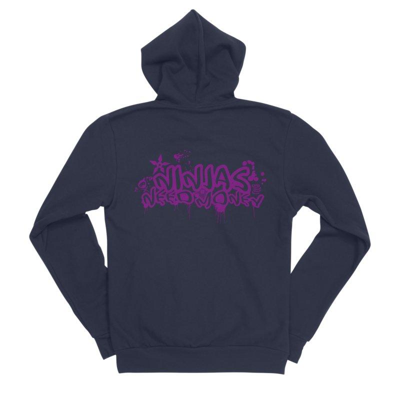 URBAN NINJA PURPLE Men's Sponge Fleece Zip-Up Hoody by Ninjas Need Money's Artist Shop