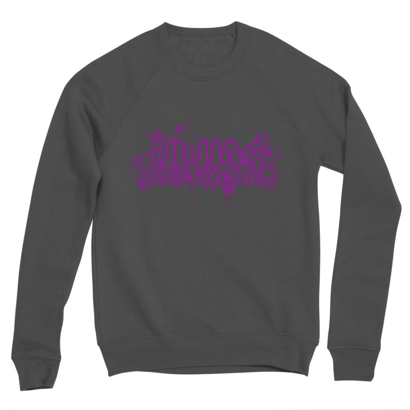 URBAN NINJA PURPLE Women's Sponge Fleece Sweatshirt by Ninjas Need Money's Artist Shop