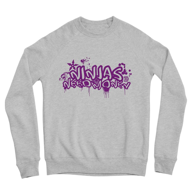 URBAN NINJA PURPLE Men's Sponge Fleece Sweatshirt by Ninjas Need Money's Artist Shop