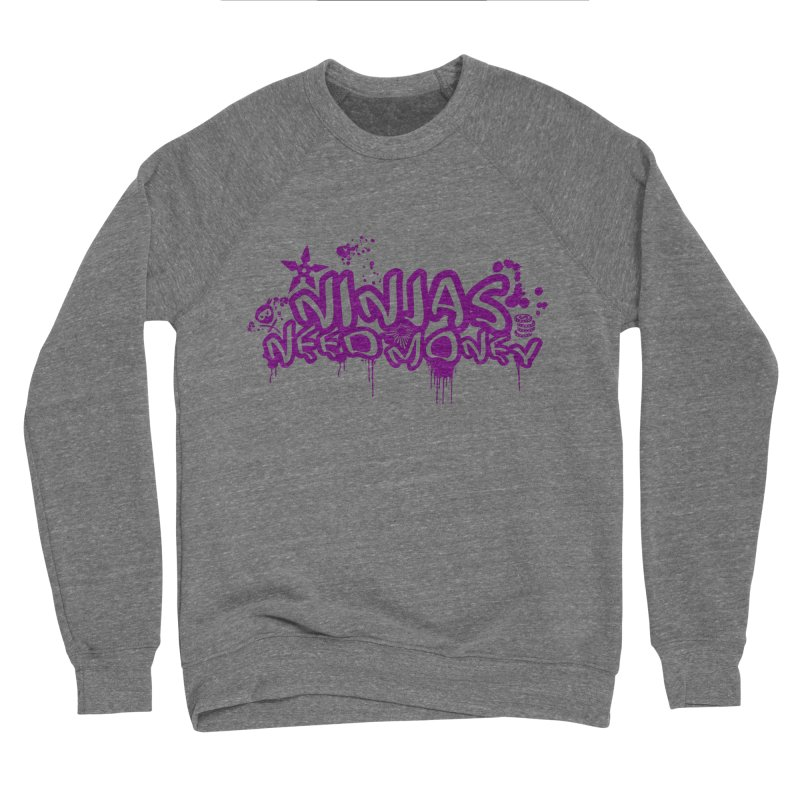 URBAN NINJA PURPLE Men's Sweatshirt by Ninjas Need Money's Artist Shop