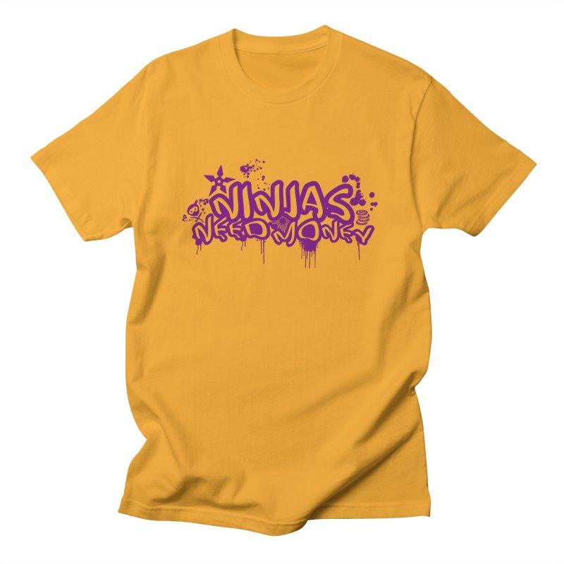 URBAN NINJA PURPLE Men's T-Shirt by Ninjas Need Money's Artist Shop