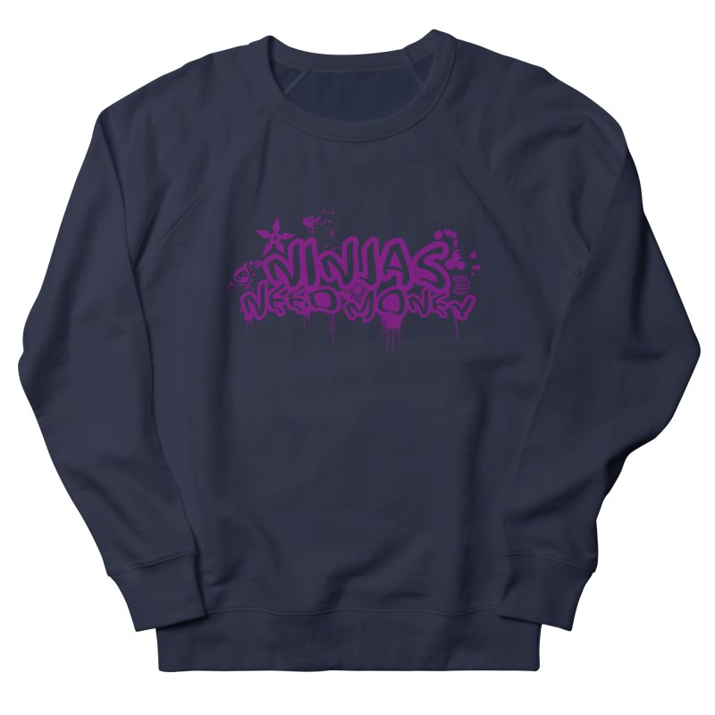 URBAN NINJA PURPLE Men's French Terry Sweatshirt by Ninjas Need Money's Artist Shop