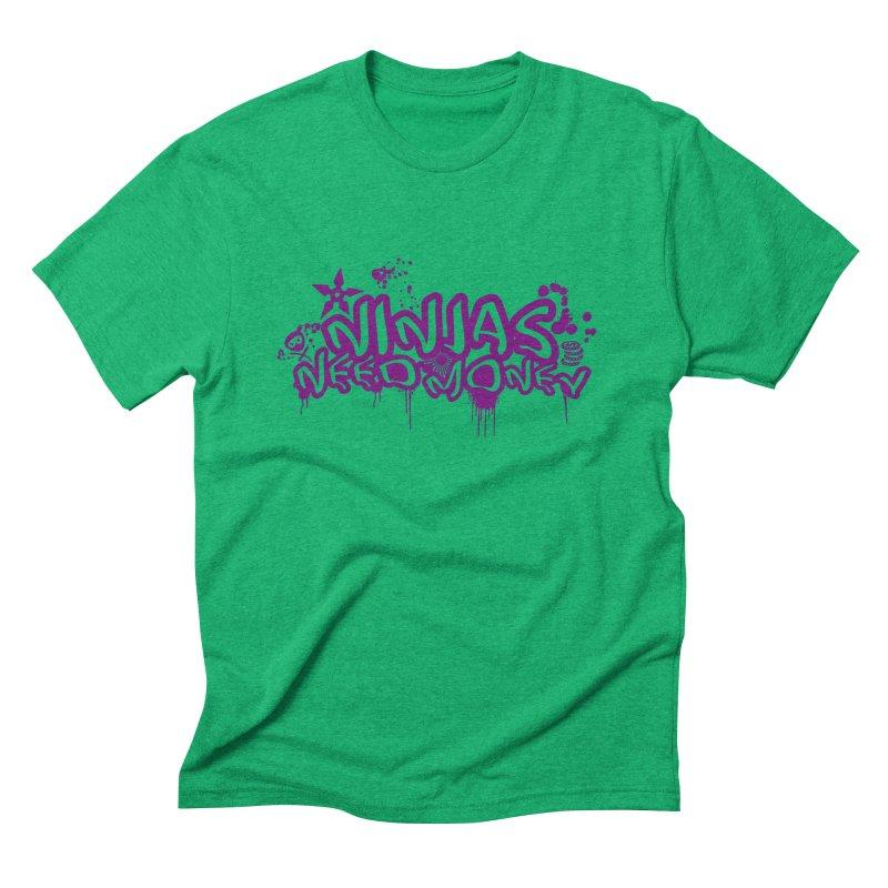 URBAN NINJA PURPLE Men's Triblend T-Shirt by Ninjas Need Money's Artist Shop