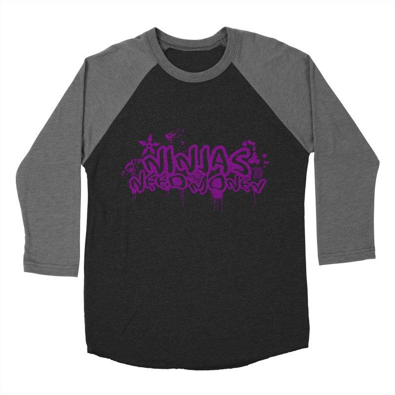URBAN NINJA PURPLE Women's Baseball Triblend Longsleeve T-Shirt by Ninjas Need Money's Artist Shop
