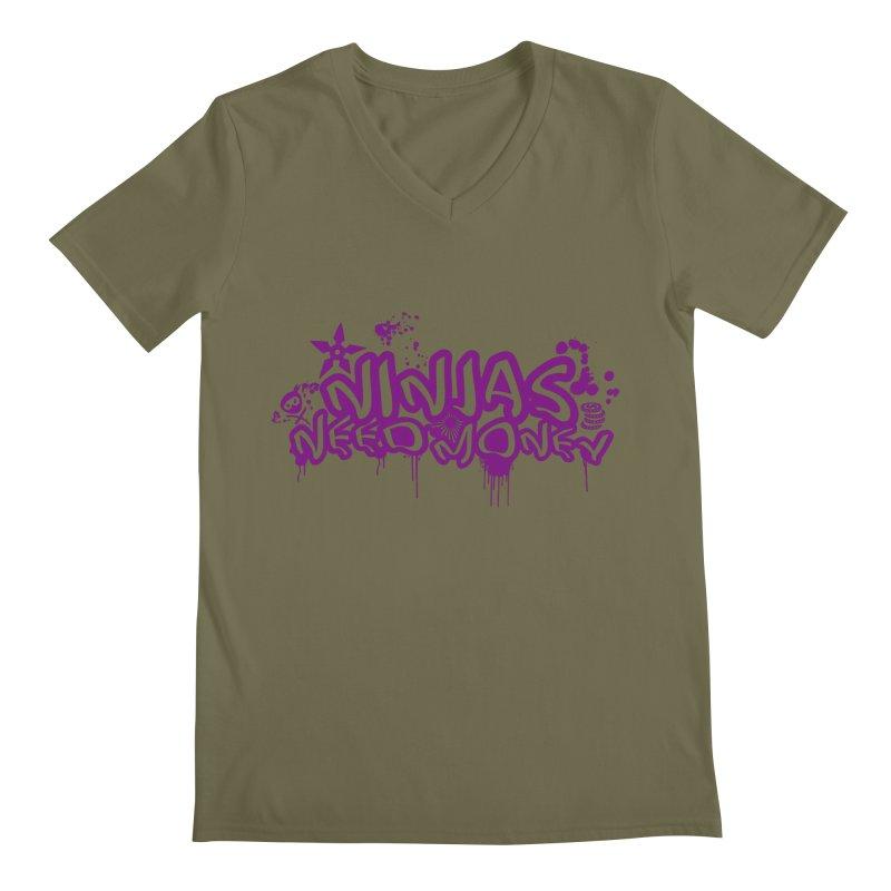 URBAN NINJA PURPLE Men's Regular V-Neck by Ninjas Need Money's Artist Shop
