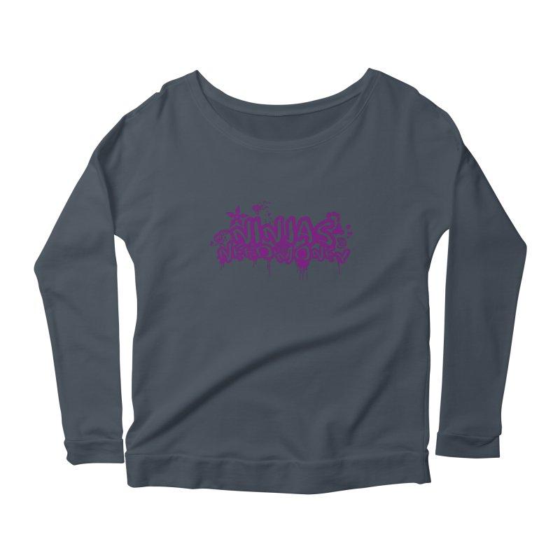 URBAN NINJA PURPLE Women's Scoop Neck Longsleeve T-Shirt by Ninjas Need Money's Artist Shop