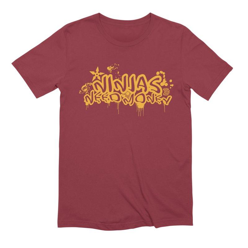 URBAN NINJA GOLD Men's Extra Soft T-Shirt by Ninjas Need Money's Artist Shop