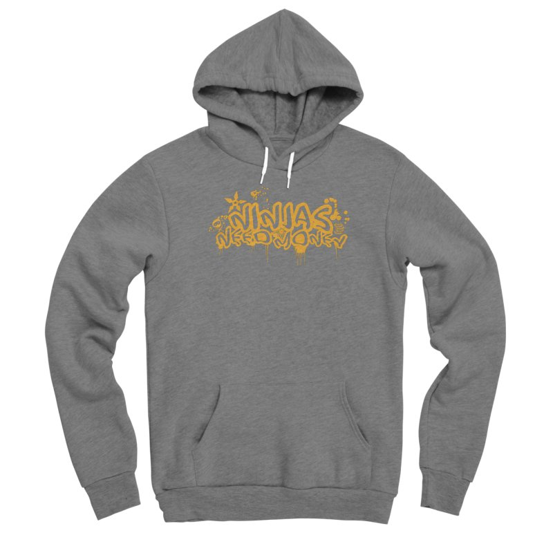 URBAN NINJA GOLD Women's Sponge Fleece Pullover Hoody by Ninjas Need Money's Artist Shop