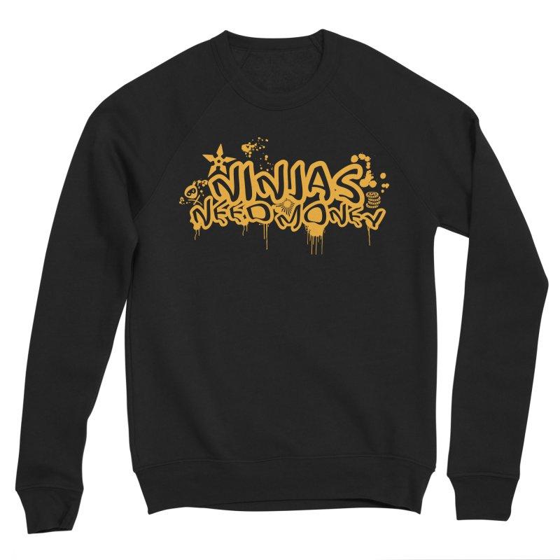 URBAN NINJA GOLD Men's Sponge Fleece Sweatshirt by Ninjas Need Money's Artist Shop