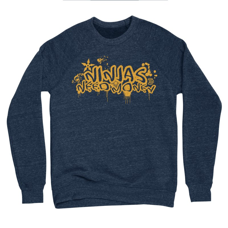 URBAN NINJA GOLD Men's Sponge Fleece Sweatshirt by Ninjas Need Money's Artist Shop