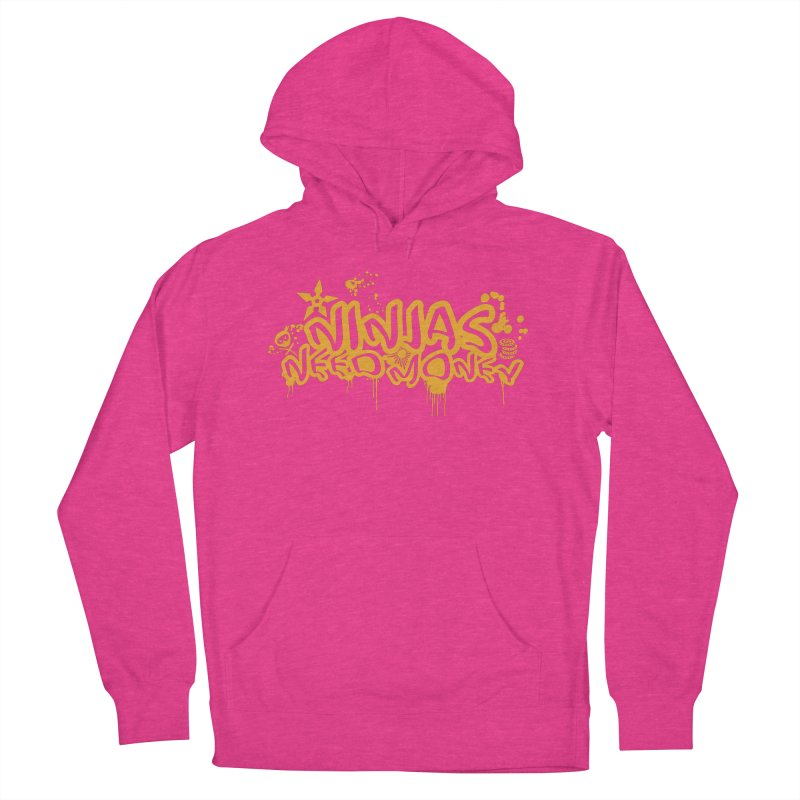 URBAN NINJA GOLD Women's French Terry Pullover Hoody by Ninjas Need Money's Artist Shop