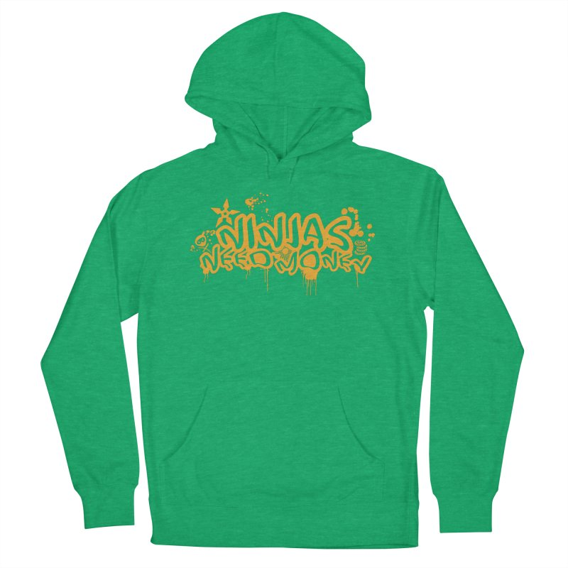URBAN NINJA GOLD Men's French Terry Pullover Hoody by Ninjas Need Money's Artist Shop