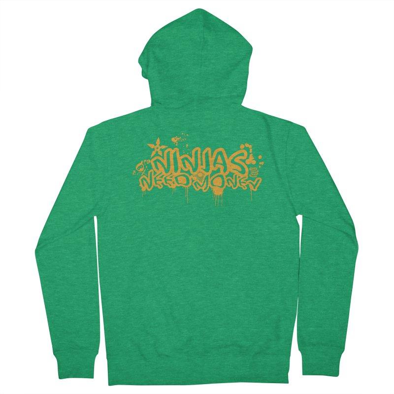 URBAN NINJA GOLD Men's Zip-Up Hoody by Ninjas Need Money's Artist Shop