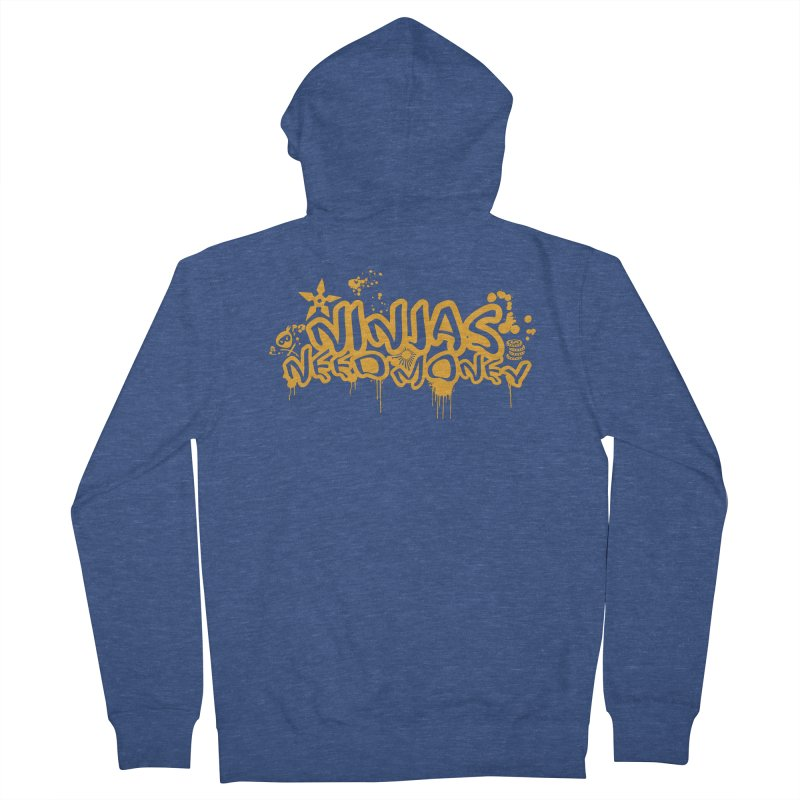 URBAN NINJA GOLD Men's French Terry Zip-Up Hoody by Ninjas Need Money's Artist Shop