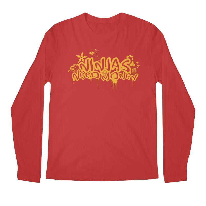 URBAN NINJA GOLD Men's Regular Longsleeve T-Shirt by Ninjas Need Money's Artist Shop