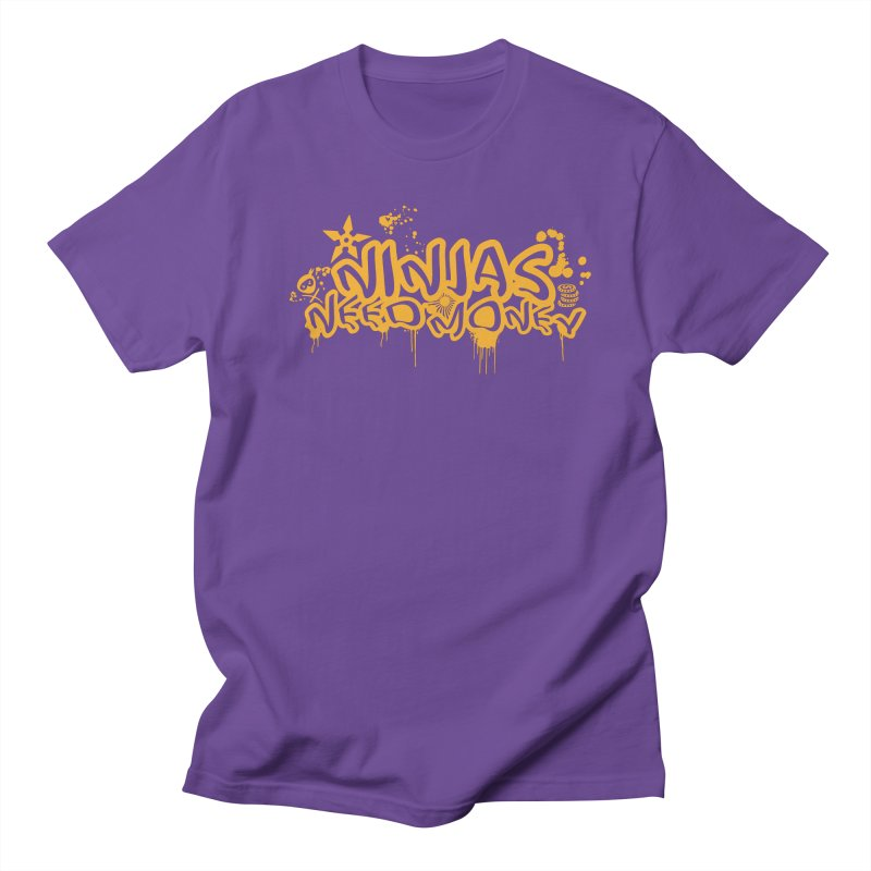 URBAN NINJA GOLD Men's T-Shirt by Ninjas Need Money's Artist Shop