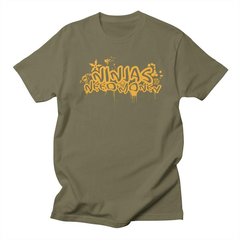 URBAN NINJA GOLD Men's T-Shirt by Ninjas Need Money's Artist Shop