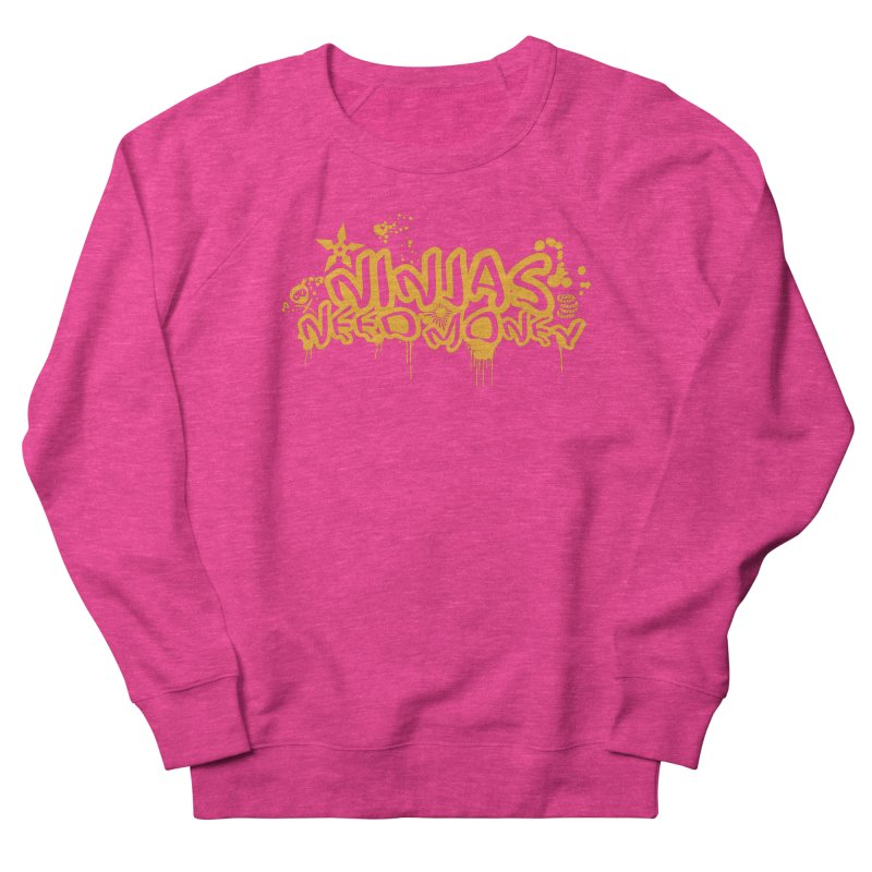 URBAN NINJA GOLD Men's French Terry Sweatshirt by Ninjas Need Money's Artist Shop