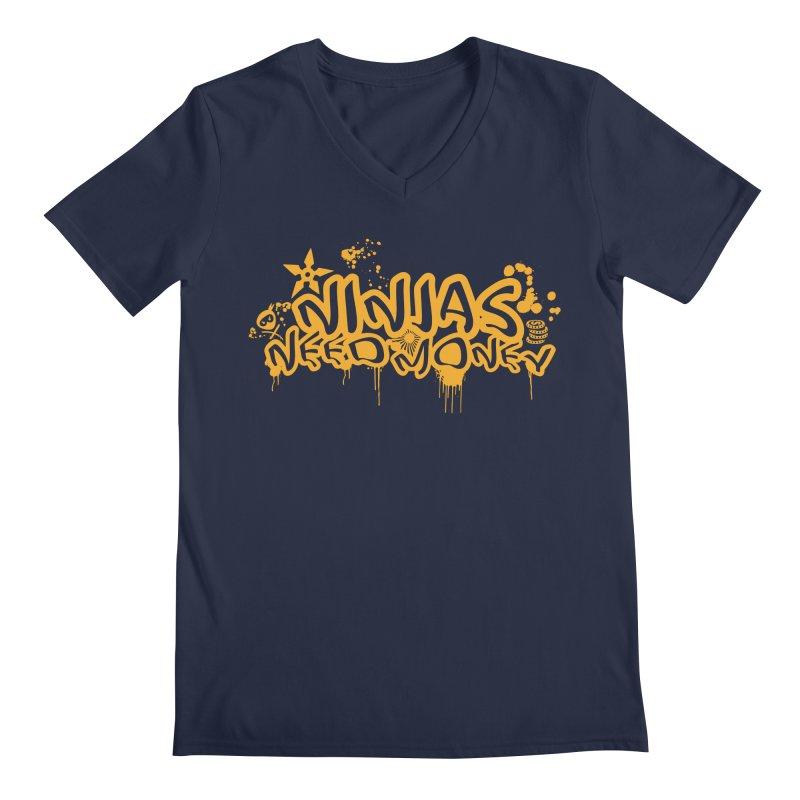 URBAN NINJA GOLD Men's Regular V-Neck by Ninjas Need Money's Artist Shop