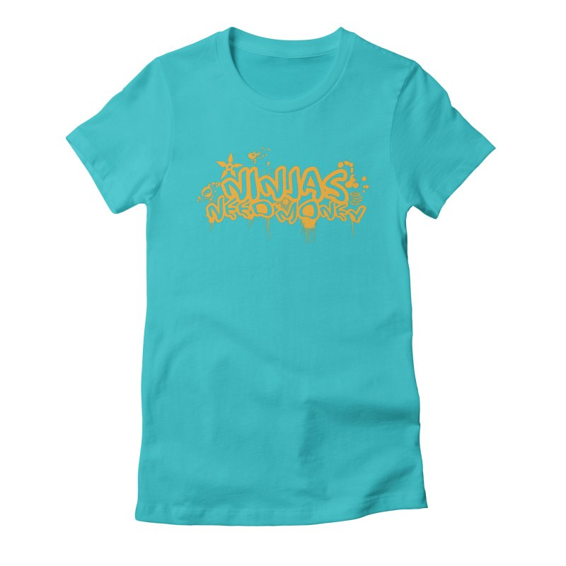 URBAN NINJA GOLD Women's Fitted T-Shirt by Ninjas Need Money's Artist Shop