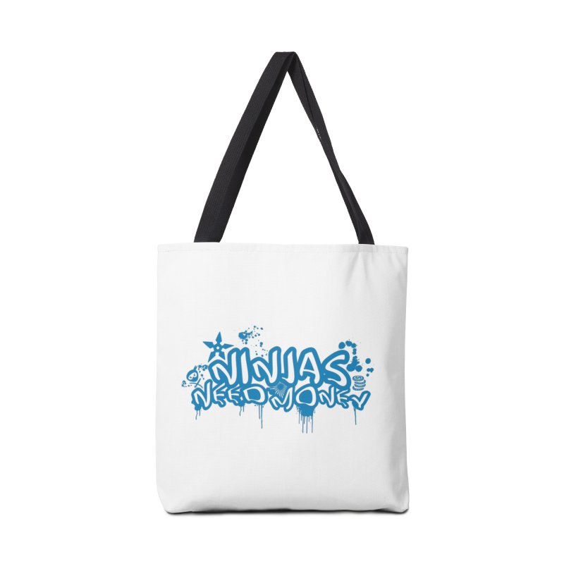 URBAN NINJA BLUE Accessories Tote Bag Bag by Ninjas Need Money's Artist Shop