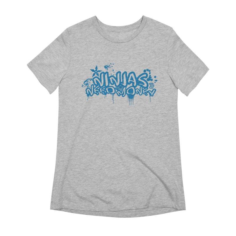 URBAN NINJA BLUE Women's Extra Soft T-Shirt by Ninjas Need Money's Artist Shop