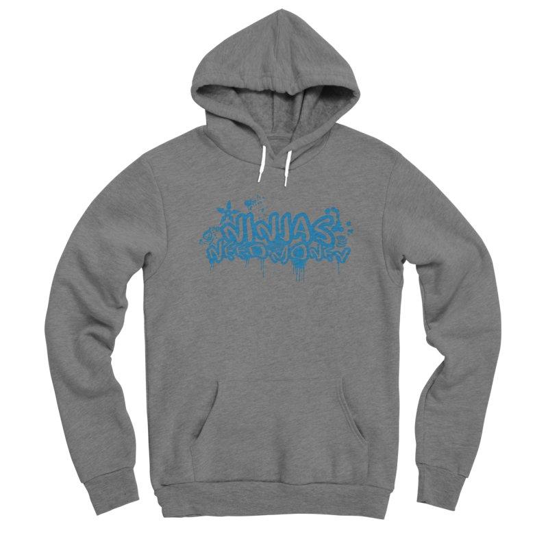 URBAN NINJA BLUE Men's Sponge Fleece Pullover Hoody by Ninjas Need Money's Artist Shop