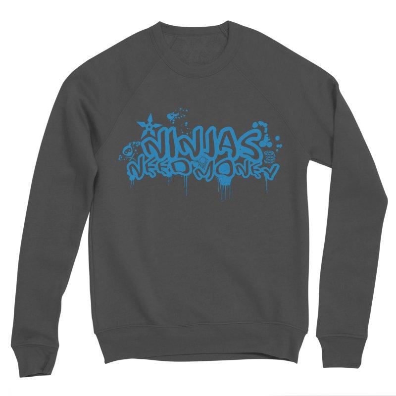 URBAN NINJA BLUE Men's Sponge Fleece Sweatshirt by Ninjas Need Money's Artist Shop