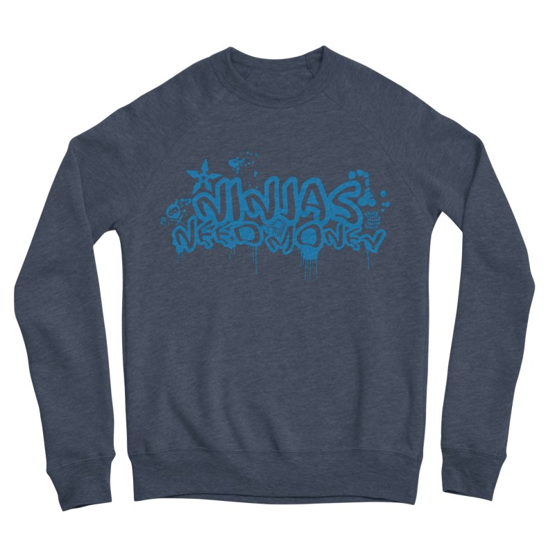 URBAN NINJA BLUE Women's Sponge Fleece Sweatshirt by Ninjas Need Money's Artist Shop