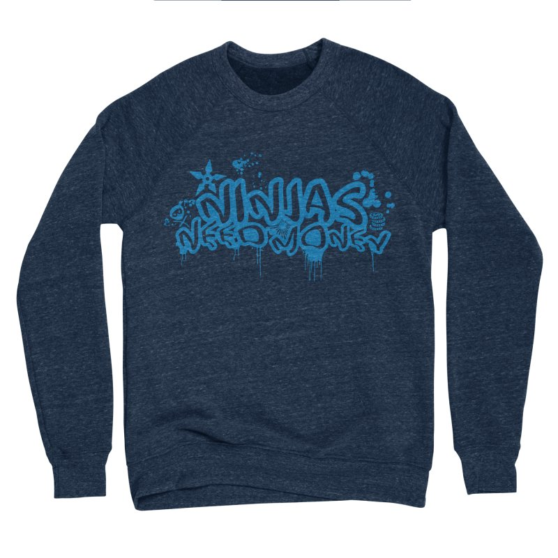 URBAN NINJA BLUE Men's Sponge Fleece Sweatshirt by Ninjas Need Money's Artist Shop