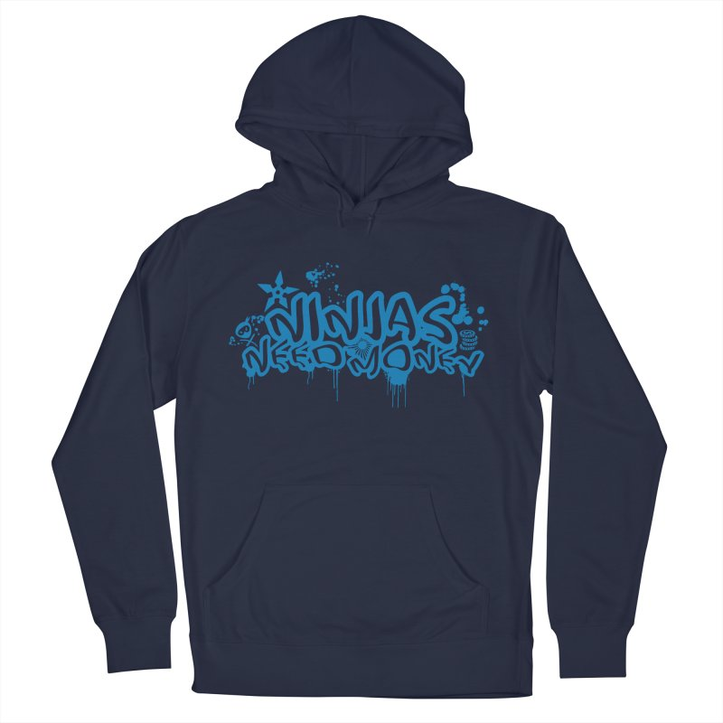 URBAN NINJA BLUE Men's French Terry Pullover Hoody by Ninjas Need Money's Artist Shop