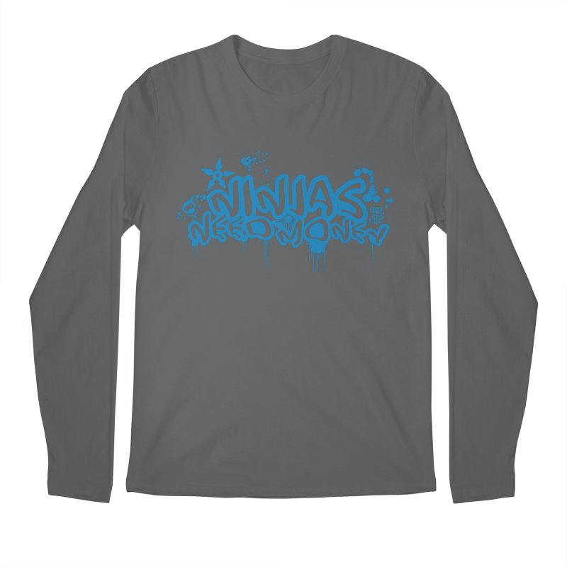 URBAN NINJA BLUE Men's Longsleeve T-Shirt by Ninjas Need Money's Artist Shop