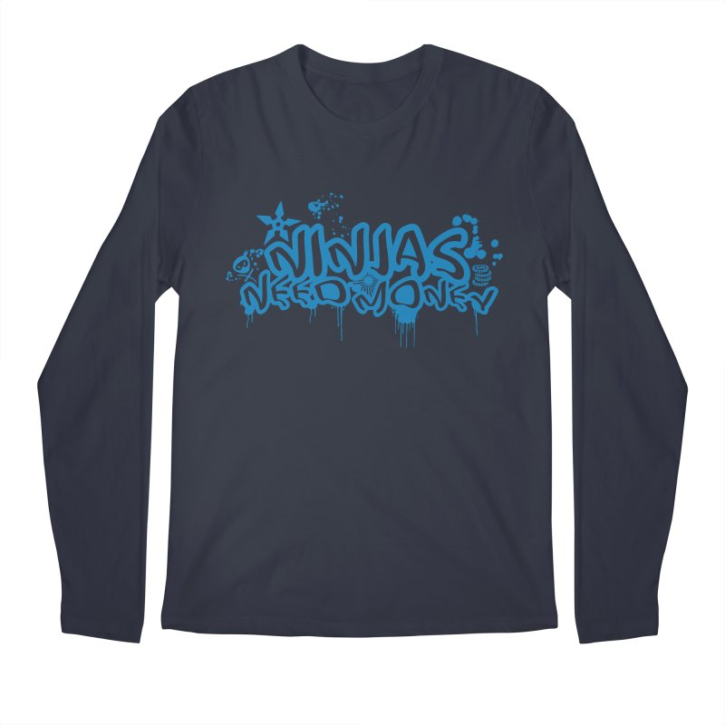 URBAN NINJA BLUE Men's Regular Longsleeve T-Shirt by Ninjas Need Money's Artist Shop