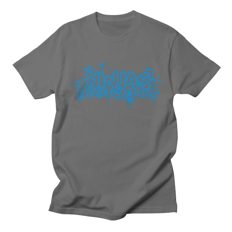 URBAN NINJA BLUE Men's T-Shirt by Ninjas Need Money's Artist Shop
