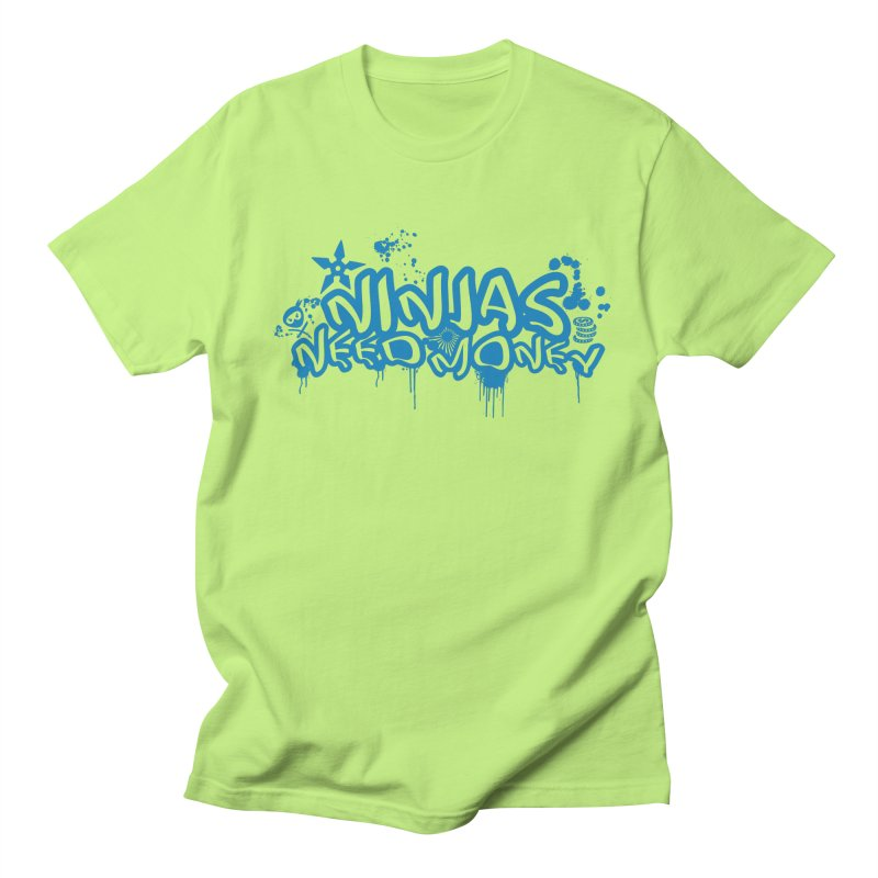 URBAN NINJA BLUE Men's Regular T-Shirt by Ninjas Need Money's Artist Shop