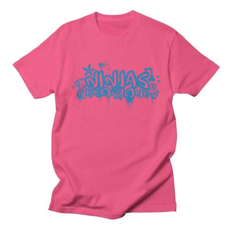URBAN NINJA BLUE Men's T-Shirt by Ninjas Need Money's Artist Shop