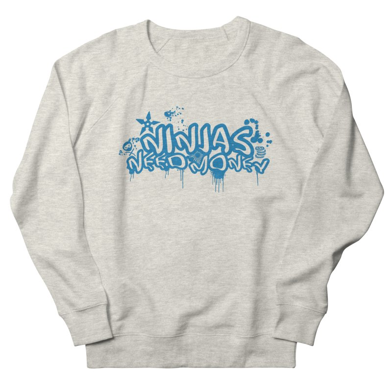 URBAN NINJA BLUE Men's French Terry Sweatshirt by Ninjas Need Money's Artist Shop