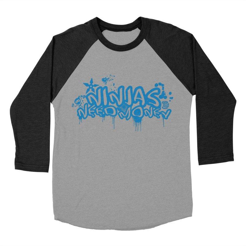 URBAN NINJA BLUE Women's Baseball Triblend Longsleeve T-Shirt by Ninjas Need Money's Artist Shop