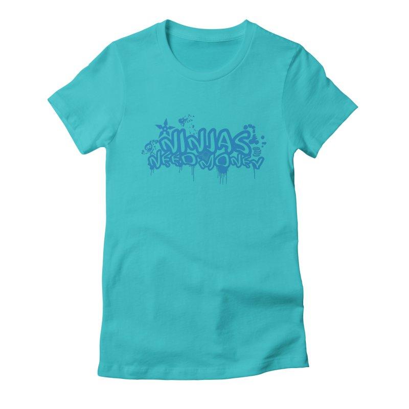 URBAN NINJA BLUE Women's Fitted T-Shirt by Ninjas Need Money's Artist Shop