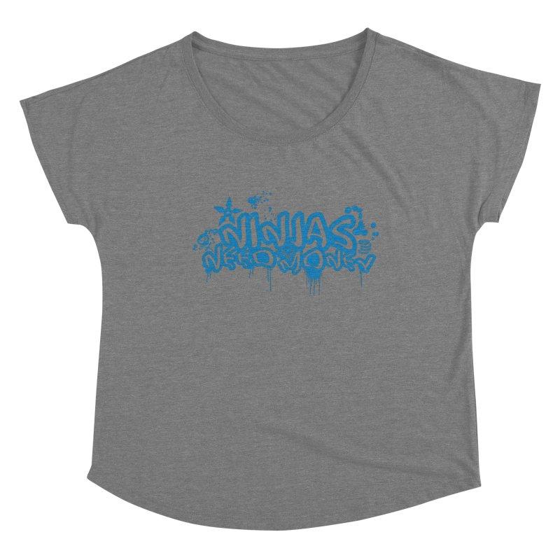 URBAN NINJA BLUE Women's Scoop Neck by Ninjas Need Money's Artist Shop