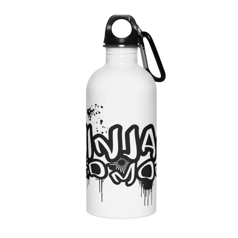 URBAN NINJA BLACK Accessories Water Bottle by Ninjas Need Money's Artist Shop