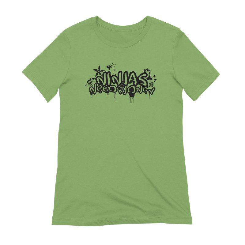URBAN NINJA BLACK Women's Extra Soft T-Shirt by Ninjas Need Money's Artist Shop