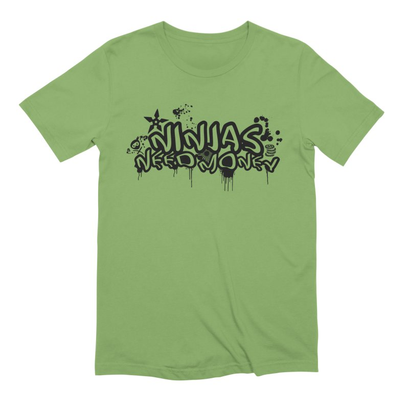 URBAN NINJA BLACK Men's Extra Soft T-Shirt by Ninjas Need Money's Artist Shop