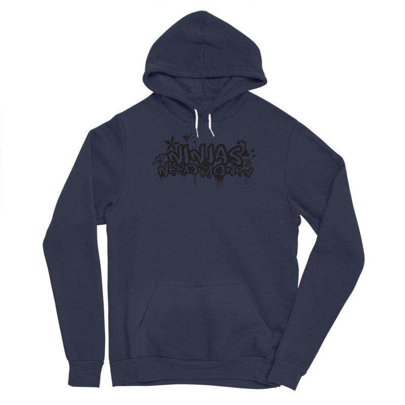 URBAN NINJA BLACK Men's Sponge Fleece Pullover Hoody by Ninjas Need Money's Artist Shop