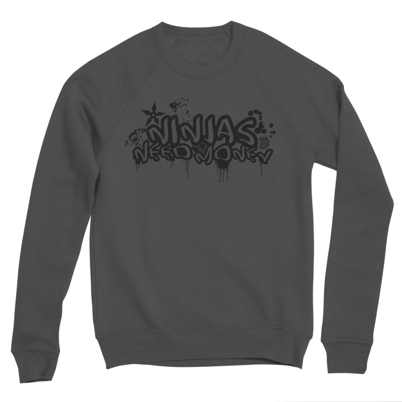 URBAN NINJA BLACK Men's Sponge Fleece Sweatshirt by Ninjas Need Money's Artist Shop