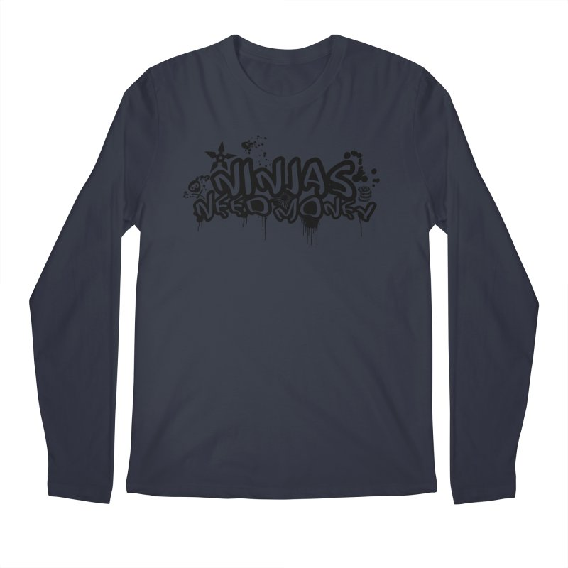 URBAN NINJA BLACK Men's Regular Longsleeve T-Shirt by Ninjas Need Money's Artist Shop