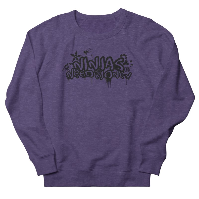 URBAN NINJA BLACK Women's French Terry Sweatshirt by Ninjas Need Money's Artist Shop