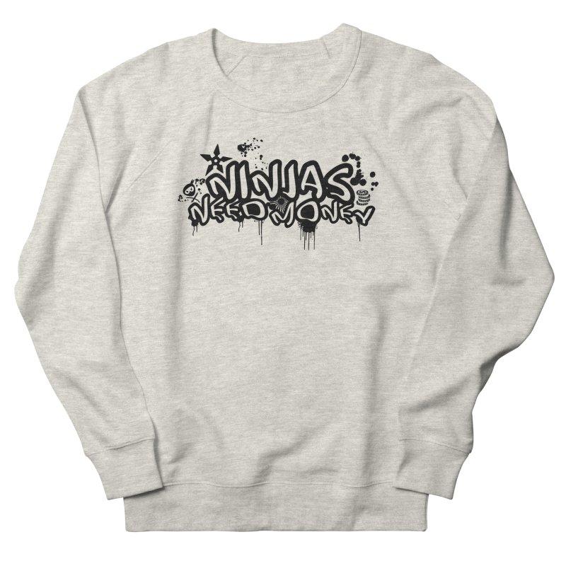URBAN NINJA BLACK Women's French Terry Sweatshirt by Ninjas Need Money's Artist Shop